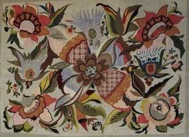 Наволочка на диванну подушку.  1920-ті рр.  Полотно, муліне, полтавська гладь, стебловий шов.